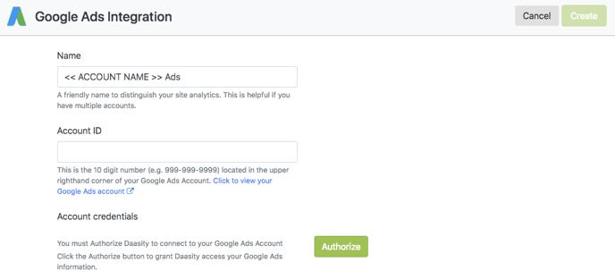 Account Setup - Google Ads