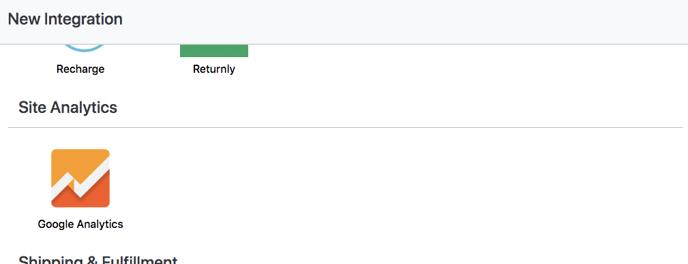 Account Setup - Google Analytics
