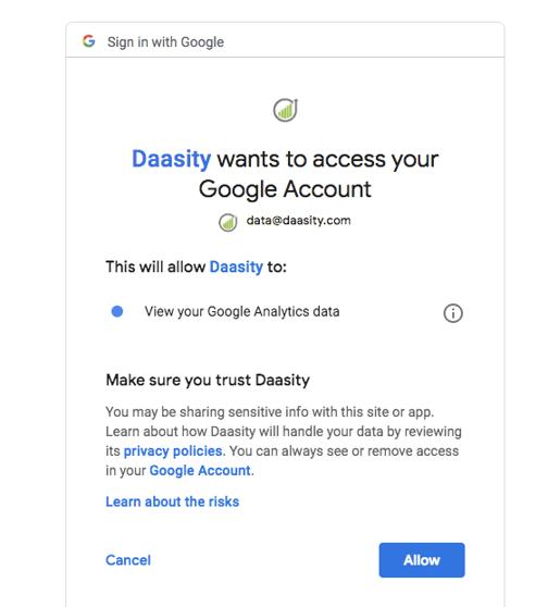 Account Setup - Google