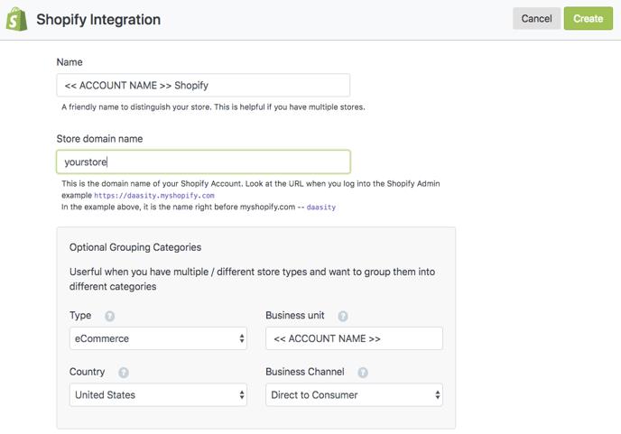 Account Setup - Shopify