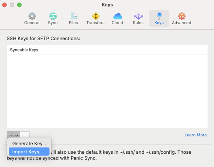 How to Send Data to Daasity SFTP - Keys