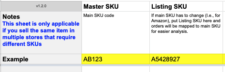 Brand Supplied Data Master SKU Mapping