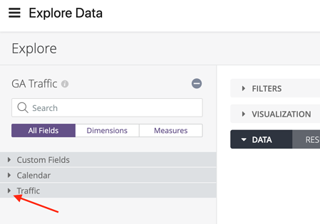 Find UTM and Channel Info in Daasity - Explore Data