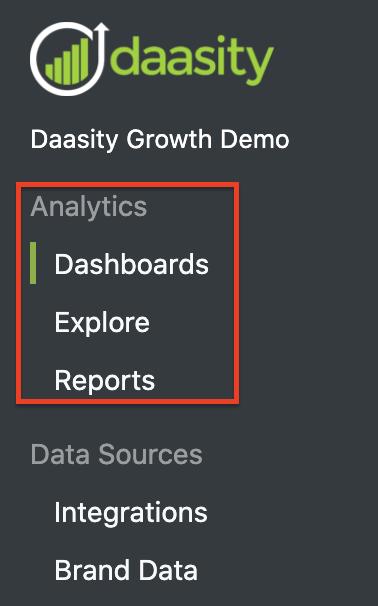 App Navigation - Analytics
