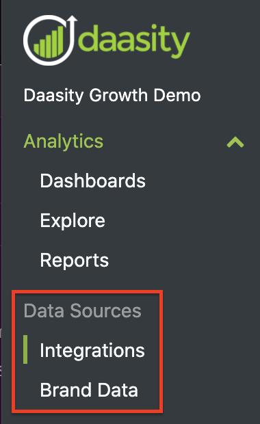App Navigation - Data Sources