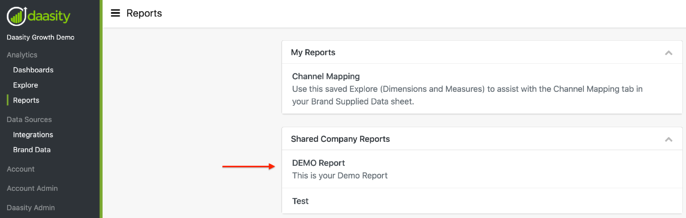 Creating & Saving Reports - My Reports
