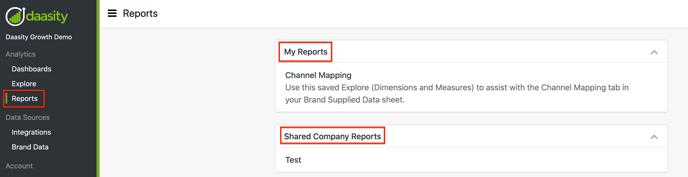 Creating & Saving Reports