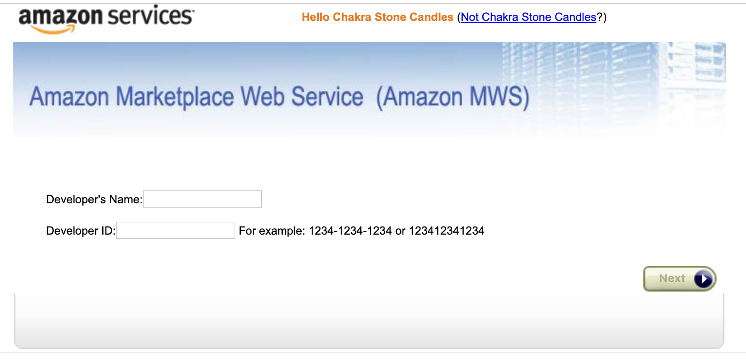 Add Amazon Seller Central - AMWS