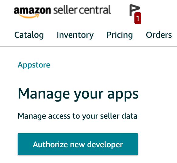 Adding Data Sources for New Professional Accounts - Amazon