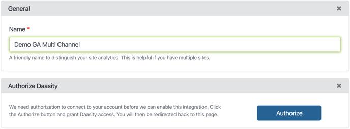 Google Analytics First Click Setup - Account