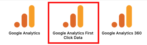 Google Analytics First Click Setup - Data