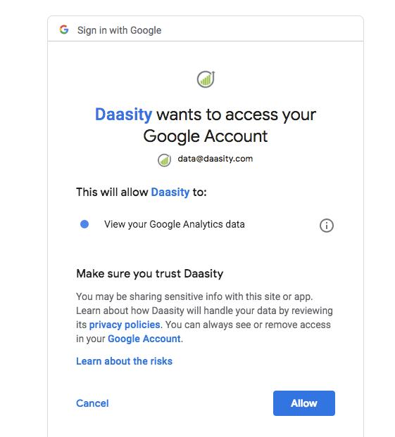 Google Analytics First Click Setup - Login