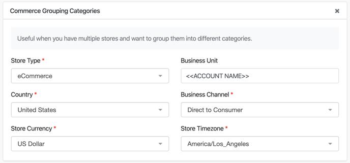 Shopify Plus Setup - Categories