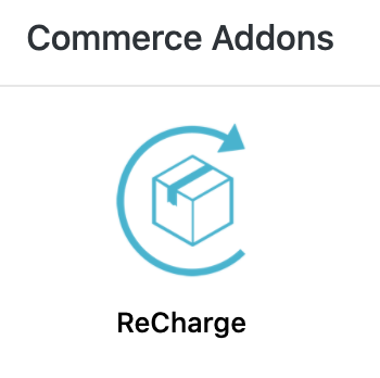 Adding ReCharge Integration - Add ons