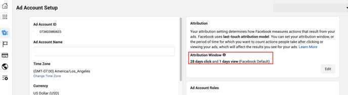 Find your Facebook Attribution Window