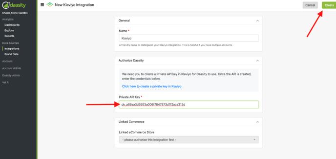 Klaviyo Integration Setup - API settings