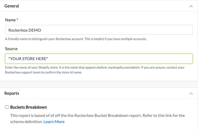 Rockerbox Integration Setup - Setup
